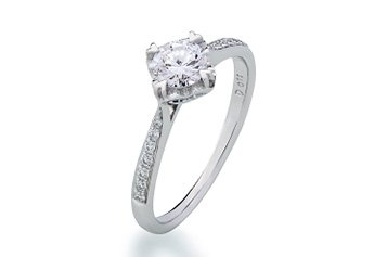 Bague de fiançailles Coeur à Coeur diamants de Cameo