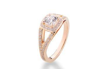 Bague de fiançailles Rose de toi en diamants de Cameo