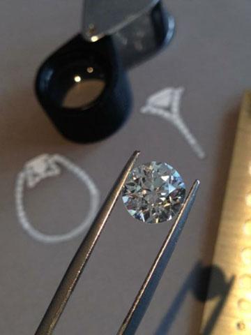Diamant pour une bague de fiançailles