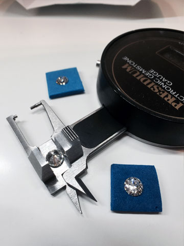Diamètre d'un diamant avec un Presidium