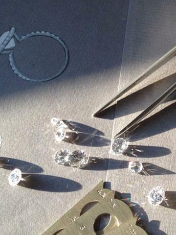 Sélection de diamants pour un achat
